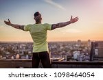 young handsome tattooed man...   Shutterstock . vector #1098464054