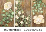 collection of designer oil... | Shutterstock . vector #1098464363