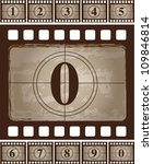 strip  of vintage film  with a... | Shutterstock .eps vector #109846814