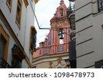 buildings on the street | Shutterstock . vector #1098478973