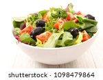 bowl of vegetable salad   Shutterstock . vector #1098479864