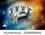 3d rendering stock market... | Shutterstock . vector #1098480890