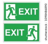 set of two vector green... | Shutterstock .eps vector #1098486890