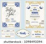save date vintage design... | Shutterstock .eps vector #1098493394