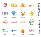 set of 16 simple editable icons ...   Shutterstock .eps vector #1098493799