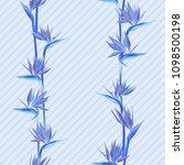tropical flower bird of... | Shutterstock .eps vector #1098500198