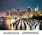 manhattan skyline seen from...   Shutterstock . vector #1098500603