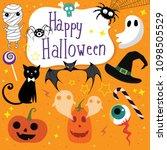happy halloween collection | Shutterstock .eps vector #1098505529