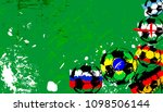 abstact background  with soccer ... | Shutterstock .eps vector #1098506144