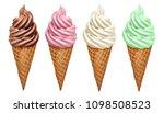 soft serve ice cream of vanilla ... | Shutterstock . vector #1098508523