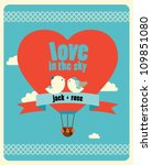 wedding invitation card with... | Shutterstock .eps vector #109851080