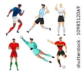 football players from france ... | Shutterstock .eps vector #1098512069