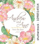 vector delicate invitation with ... | Shutterstock .eps vector #1098514514