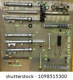 ingredient shock absorbers | Shutterstock . vector #1098515300