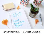 ceo chief executive officer... | Shutterstock . vector #1098520556