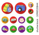 family holiday flat icons in... | Shutterstock .eps vector #1098520844