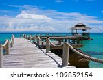 beautiful tropical beach in koh ...   Shutterstock . vector #109852154