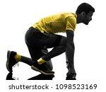 one caucasian man runner... | Shutterstock . vector #1098523169