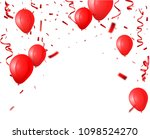 celebration background with red ... | Shutterstock . vector #1098524270