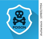 poison and shield.protection... | Shutterstock .eps vector #1098527954