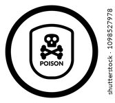 poison and shield.protection... | Shutterstock .eps vector #1098527978