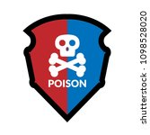 poison and shield.protection... | Shutterstock .eps vector #1098528020