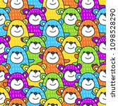 a bright pattern with pretty... | Shutterstock .eps vector #1098528290