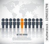 human resources   we are hiring ... | Shutterstock .eps vector #1098533798