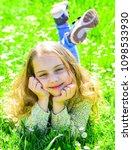 heyday concept. girl on smiling ...   Shutterstock . vector #1098533930