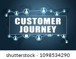 customer journey   text concept ...   Shutterstock . vector #1098534290