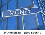 money   3d render text ... | Shutterstock . vector #1098534548