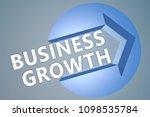 business growth   3d text... | Shutterstock . vector #1098535784