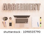 agreement   text concept with... | Shutterstock . vector #1098535790