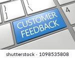 customer feedback   keyboard 3d ... | Shutterstock . vector #1098535808