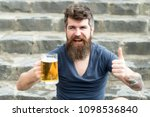 hipster with beard and mustache ... | Shutterstock . vector #1098536840