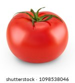 tomato isolated on white... | Shutterstock . vector #1098538046
