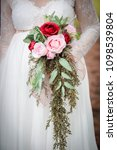 bridal bouquet formal dress... | Shutterstock . vector #1098539804