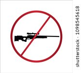 prohibiting sign for gun. no... | Shutterstock .eps vector #1098545618