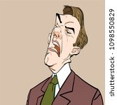 angry boss. annoyed politician. ... | Shutterstock .eps vector #1098550829