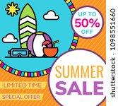sale banner design template.... | Shutterstock .eps vector #1098551660