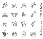 party vector line icons | Shutterstock .eps vector #1098551666