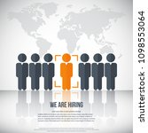 human resources   we are hiring ... | Shutterstock .eps vector #1098553064