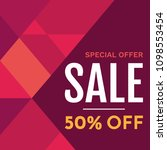 sale banner design template.... | Shutterstock .eps vector #1098553454