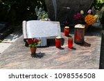 exclusive marble grave design    Shutterstock . vector #1098556508