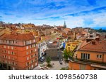 lausanne city in switzerland... | Shutterstock . vector #1098560738