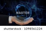 painted hand shows concept... | Shutterstock . vector #1098561224