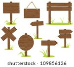 wooden signposts over white... | Shutterstock .eps vector #109856126