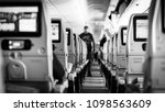 interior of airplane with... | Shutterstock . vector #1098563609