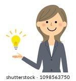 businesswoman making a... | Shutterstock .eps vector #1098563750