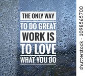 inspirational motivation quotes ... | Shutterstock . vector #1098565700